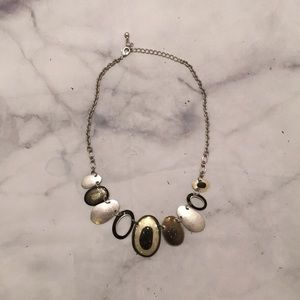 Black and Silver Colored Necklace